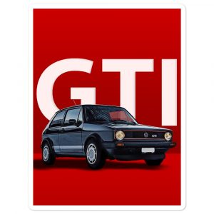 "The Golf GTI MK1 ""The Legend"" sticker"