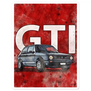 "The Golf GTI MK1 ""The Legend vintage"" sticker"