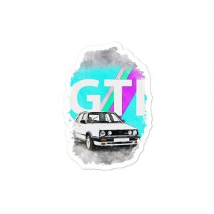 "The Golf GTI MK2 ""THE ARTSY"" sticker"