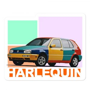 The Golf Harlequin sticker