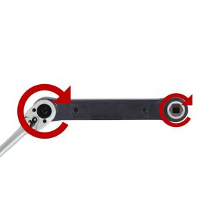 Socket extension wrench